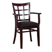 Benkel Seating Arm Chair; Dark Mahogany