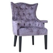 Crestview Fifth Avenue Eggplant Velvet Arm Chair with Nailhead Trim