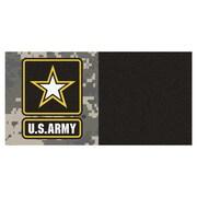 FANMATS MIL U.S. Air Force Team Carpet Tiles; Army