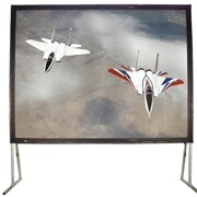 Buhl White Fixed Frame Projection Screen; 81'' H x 108'' W