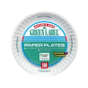 AJM PACKAGING CORP. Round Uncoated Paper Plate in White (Pack of 1000)