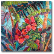 Courtside Market Splash of the Tropics II Painting Print on Wrapped Canvas