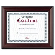 DAX MANUFACTURING INC. Rosewood Document Wood Frame, Wall-Mount