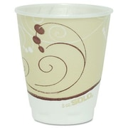 Solo Cups Company Symphony Design Trophy Foam Hot/Cold Drink Cups, 8 Oz, 100/Pack