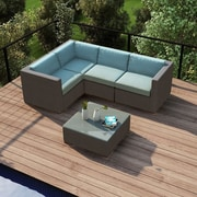 Harmonia Living Element 5 Piece Deep Seating Group w/ Cushion; Canvas Spa