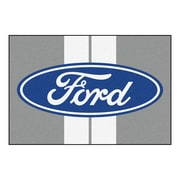 FANMATS Ford - Ford Oval w/ Stripes Tailgater Mat; 5' x 6'