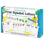 CARSON-DELLOSA PUBLISHING Write-On/Wipe-Off Print Alphabet Letters Activity  Set