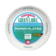 AJM PACKAGING CORP. Uncoated Paper Plate in White