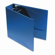 Universal Products D-Ring Binder w/Label Holder, 4in Capacity; Royal Blue