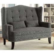 A&J Homes Studio Upholstered Entryway Bench; Gray