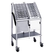 Omnimed Wheeled 2 Tier Chart Carrier - 20 Capacity (263820)