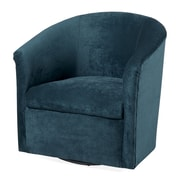 Comfort Pointe Elizabeth Swivel Barrel Chair; Ocean