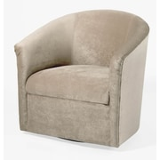 Comfort Pointe Elizabeth Swivel Barrel Chair; Sand