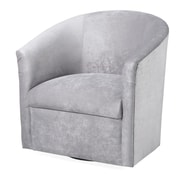 Comfort Pointe Elizabeth Swivel Barrel Chair; Silver