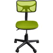 Urban Shop Mid-Back Mesh Task Chair; Green