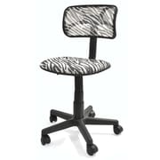 Urban Shop Mid-Back Mesh Task Chair; Zebra