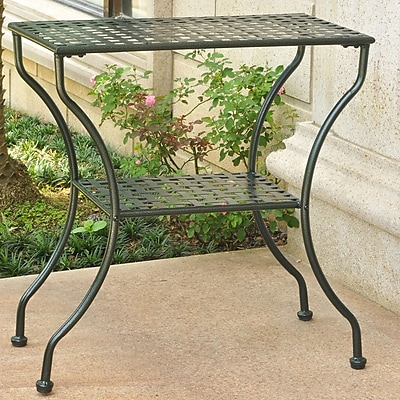 International Caravan Mandalay Iron 2-Tier Patio Table; Vertigris