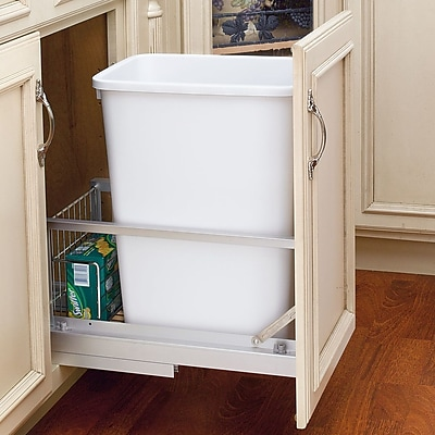 Rev-A-Shelf 8.75 Gallon Plastic Trash Can WYF078278865788