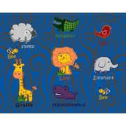 Nance Industries Kids Art Animal Kingdom Multi Colored Area Rug; 8' x 10'