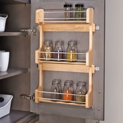 Rev-A-Shelf Cabinet Door Mount 3 Shelf Spice Rack; Medium