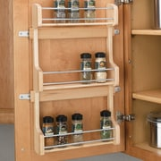 Rev-A-Shelf Cabinet Door Mount 3 Shelf Spice Rack; Large