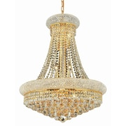 Elegant Lighting Primo 14 Light Chandelier with Crystal; 24'' / Gold / Elegant Cut