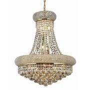 Elegant Lighting Primo 14 Light Chandelier with Crystal; 20'' / Gold / Elegant Cut