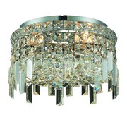 Elegant Lighting Maxim 4 Light Semi Flush Mount; 12'' / Royal Cut