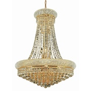 Elegant Lighting Primo 14 Light Chandelier with Crystal; 28'' / Gold / Elegant Cut