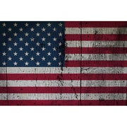 Picture it on Canvas 'USA 50 Stars National Patriotic Flag' Painting Print