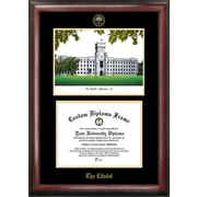 Campus Images NCAA Gold Embossed Diploma w/ Campus Images Lithograph Picture Frame; Citadel Bulldogs