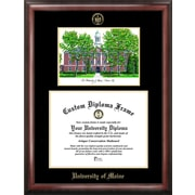 Campus Images NCAA Maine University Gold Embossed Diploma Picture Frame w/ Campus Images Lithograph
