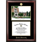 Campus Images NCAA Purdue University Gold Embossed Diploma w/ Campus Images Lithograph Picture Frame