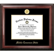 Campus Images NCAA Gold Embossed Diploma Picture Frame; Mid. Tenn. St. Blue Raiders