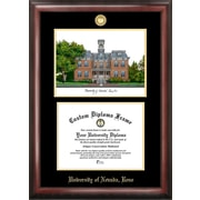 Campus Images NCAA Gold Embossed Diploma w/Campus Images Lithograph Picture Frame; Nevada Wolf Pack