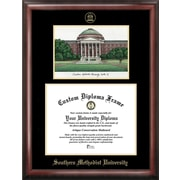Campus Images NCAA Gold Embossed Diploma Frame with Campus Images Lithograph Frame; SMU Mustangs