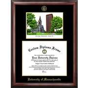 Campus Images NCAA Gold Embossed Diploma Frame with Campus Images Lithograph Frame; U Mass Minutemen