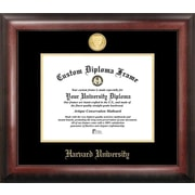 Campus Images NCAA Gold Embossed Diploma Picture Frame; Harvard Crimson
