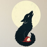 My Wonderful Walls Fable Graphic Little Red Riding Hood Wall Decal; Large