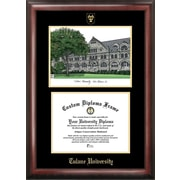 Campus Images NCAA Tulane University Gold Embossed Diploma w/ Campus Images Lithograph Picture Frame