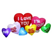 BZB Goods Valentine's Day Inflatable Colorful Hearts w/ Love Messages Yard Decoration