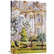 Global Gallery 'Palace and Gardens, Spain' by John Singer Sargent Painting Print on Wrapped Canvas