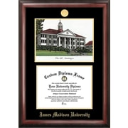 Campus Images NCAA James Madison University Gold Embossed Diploma w/ Campus Image Picture Frame