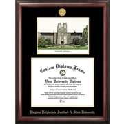Campus Images NCAA Virginia Tech Gold Embossed Diploma w/ Campus Images Lithograph Picture Frame