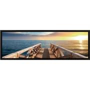 Elementem Photography Landscape Panorama Sunset Pier Framed Photographic Print