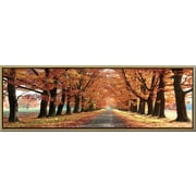 3 Panel Photo Landscape Panorama Fall Road Framed Photographic Print