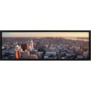 3 Panel Photo Landscape Panorama Heading Downtown NYC Framed Photographic Print