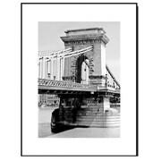 3 Panel Photo Wood Mounted Budapest Bridge Framed Photographic Print