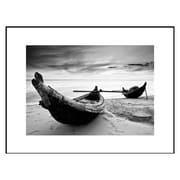 3 Panel Photo Wood Mounted Gone Fishing Framed Photographic Print