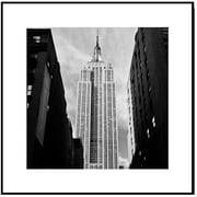 3 Panel Photo Wood Mounted Empire State Street View Framed Photographic Print